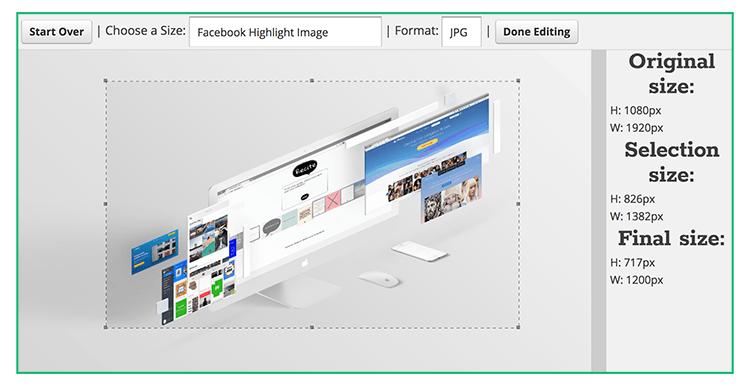 Program do tworzenia grafiki Social Media Image Resizer.
