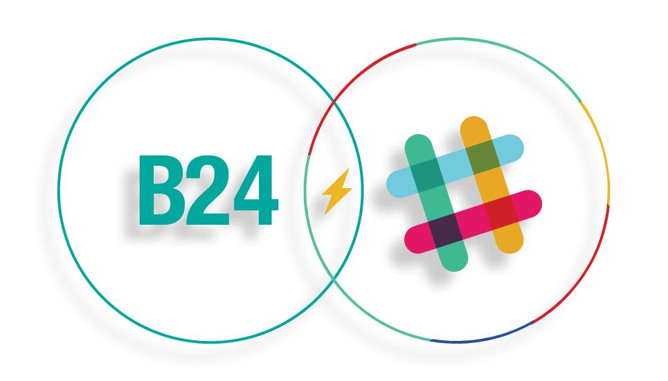 Grafika przedstawiająca możliwośćintegracji Brand24 ze Slackiem.