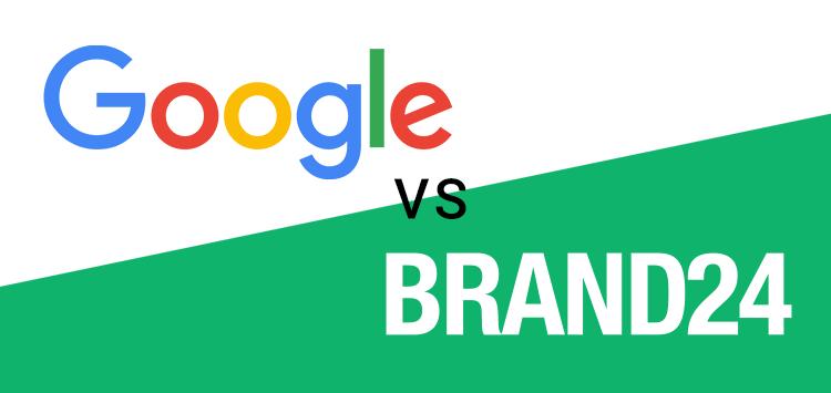 Grafika przedstawiająca porównanie Google Alerts vs. Brand24