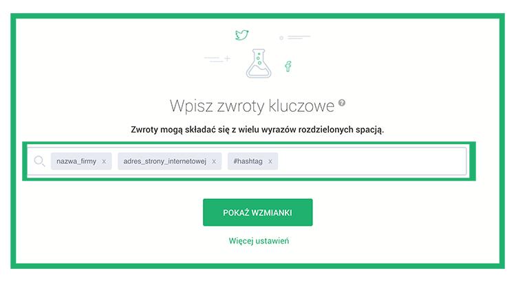 Konfiguracja projektu monitorującego markę w sieci.