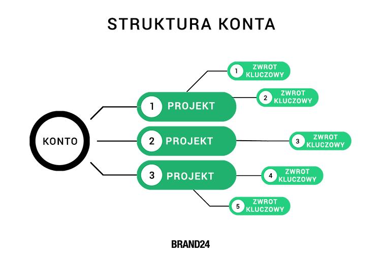 Struktura konta w Brand24.
