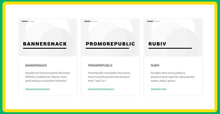 Grafika przedstawiająca 3 najlepsze narzędzia do tworzenia grafiki online.