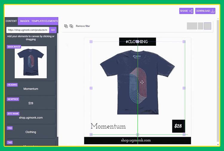 Grafika przedstawiająca program do tworzenia grafiki online.