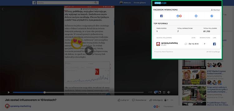Narzędzia social media - CrowdTangle jako przykład narzędzia