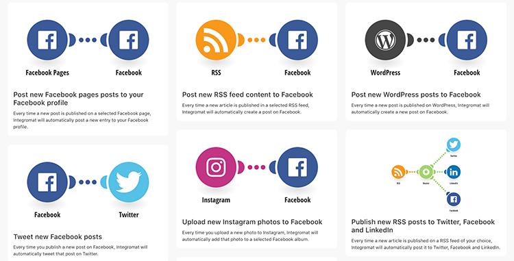 Narzędzia social media - przykład Integromat