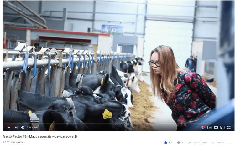 Grafika przedstawiająca film na kanale Tractormania o wozach paszowych