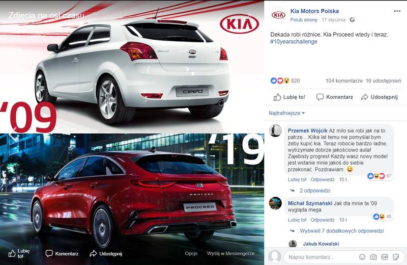 Odpowiedź KIA Motors na #10YearsChallenge