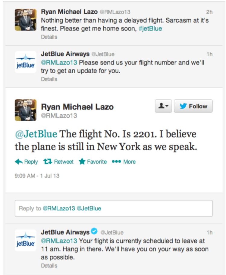 Grafika przedstawiająca zapobieganie kryzysowi wizerunkowemu przez JetBlue Airways