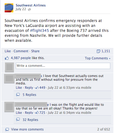 Grafika przedstawiająca zapobieganie kryzysowi wizerunkowemu na przykładzie Southwest Airlines