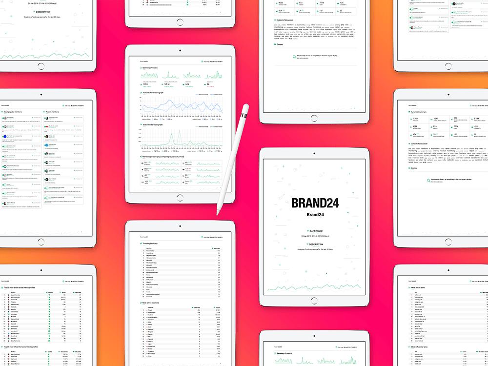 Personalizowane raporty w Brand24