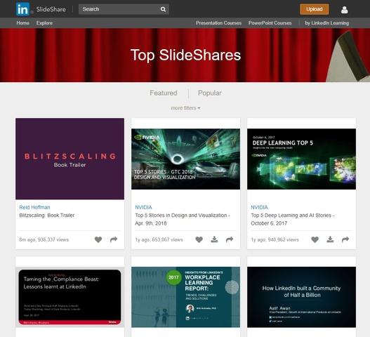 Promocja firmy w Internecie - grafika przedstawiająca widok narzędzia Slideshare